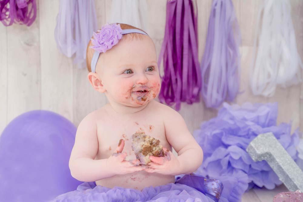 cake smash baby girl