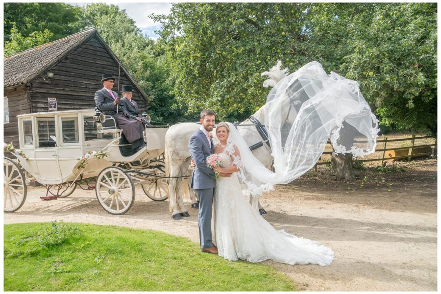wedding horse and cart