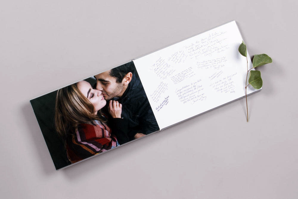 Photo Album layflat rigid paged professional product portrait signing book engagement session guest book