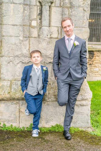 groom and young best man