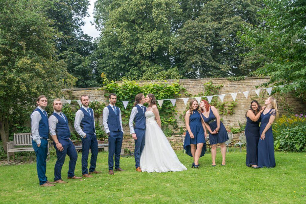 bridal party group love wedding peterborough