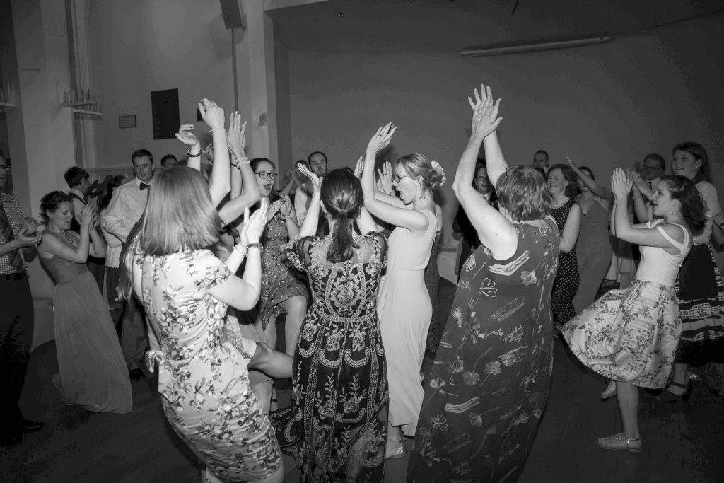 black and white dancing at wedding
